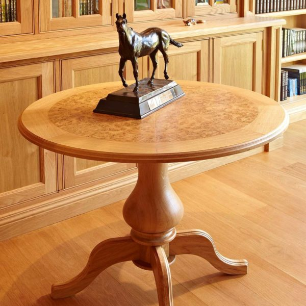 Bespoke library furniture for Dick Francis